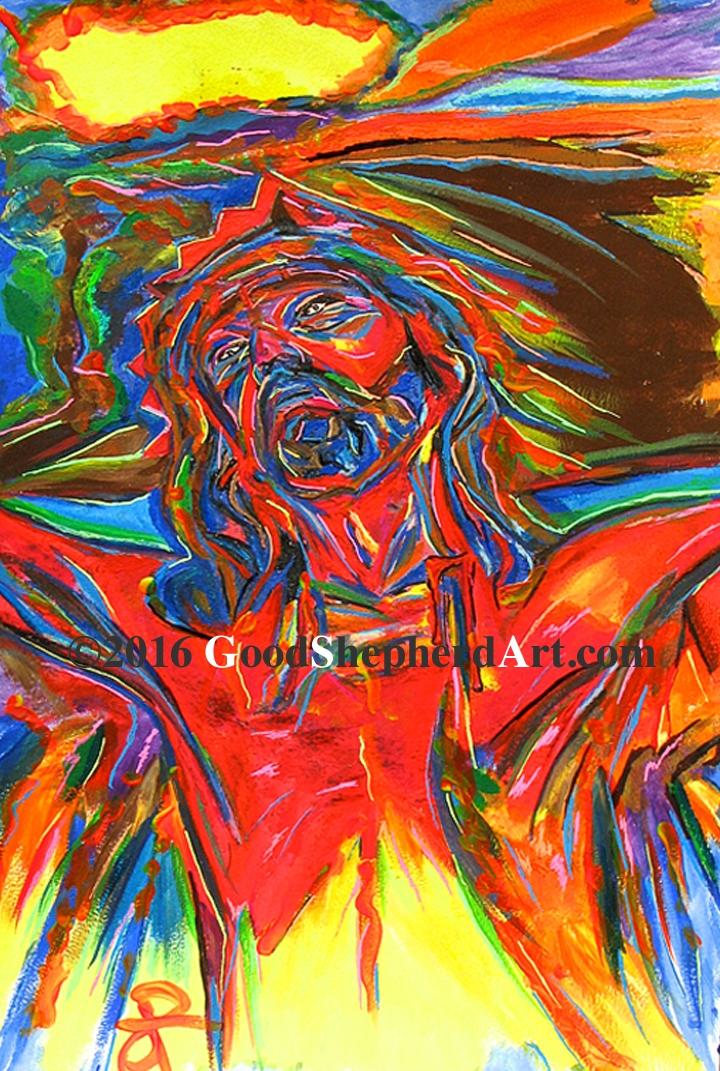 Jesus Cross Abstract